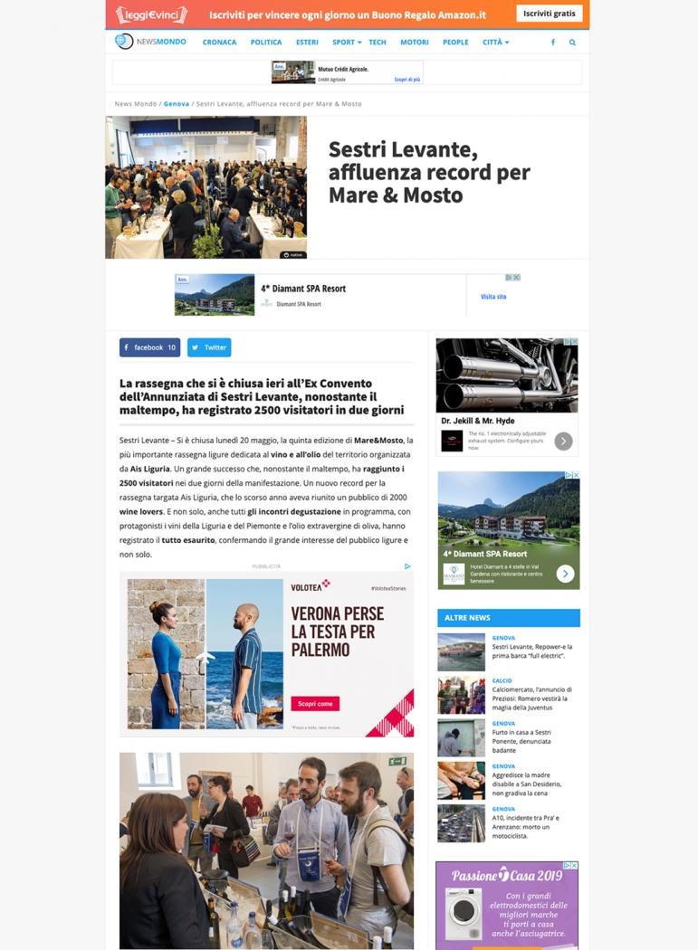 Sestri Levante, affluenza record per Mare & Mosto