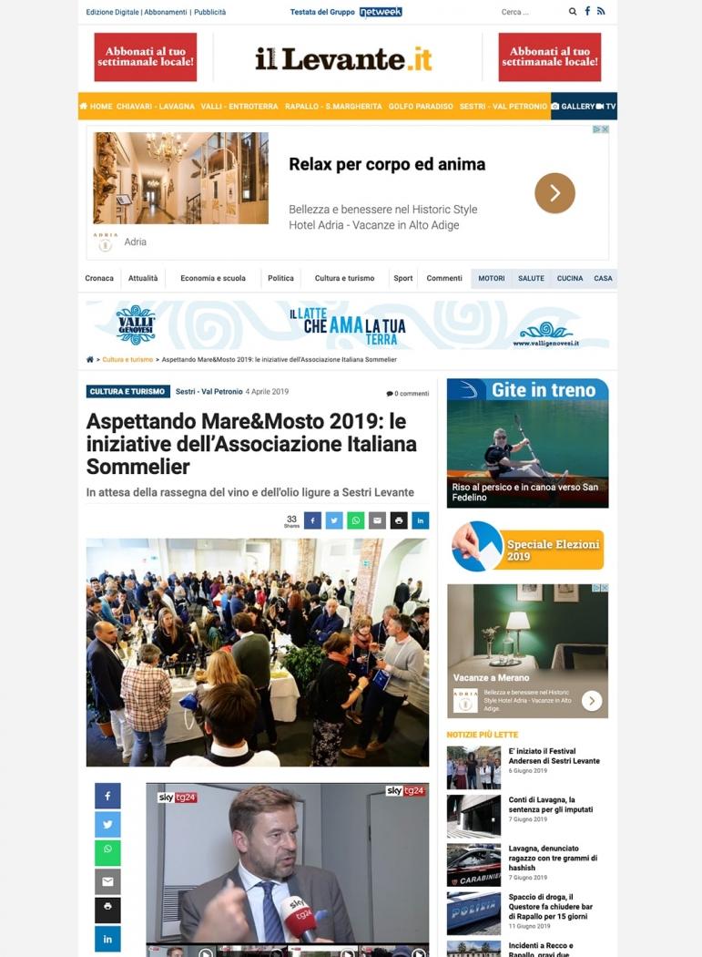 Aspettando Mare&Mosto 2019: le iniziative dell'Associazione Italiana Sommelier