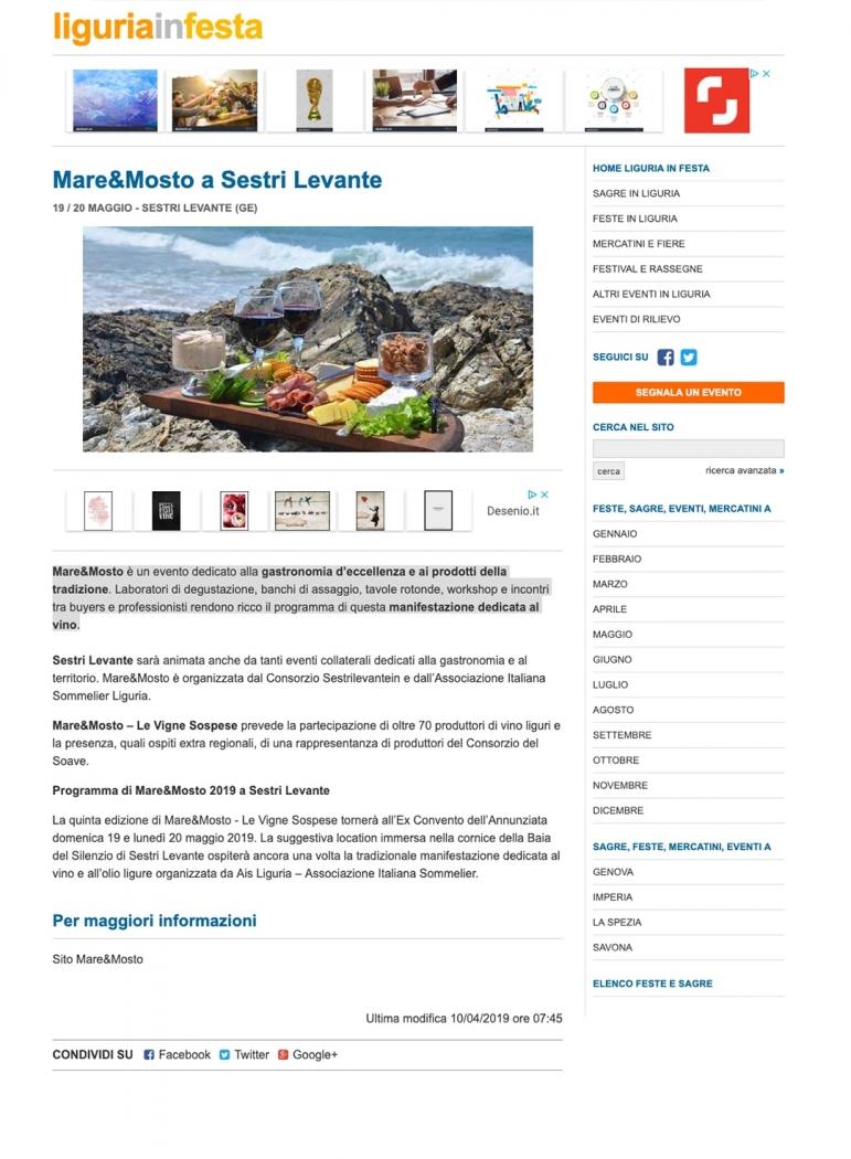 Mare&Mosto a Sestri Levante
