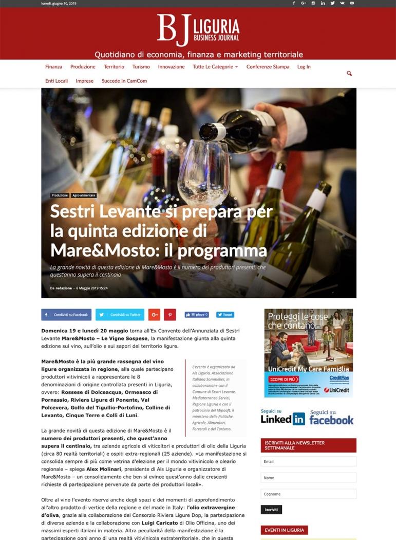 Sestri Levante si prepara per la quinta edizione di Mare&Mosto: il programma