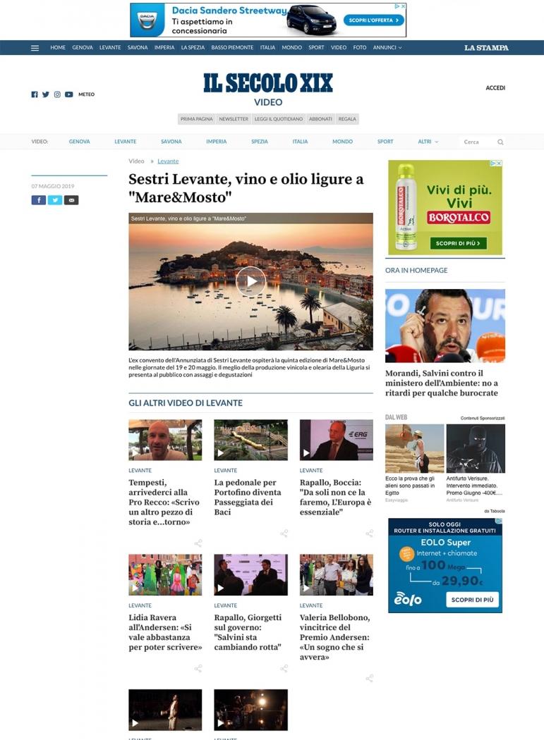"""Sestri Levante, vino e olio ligure a """"Mare&Mosto"""""""