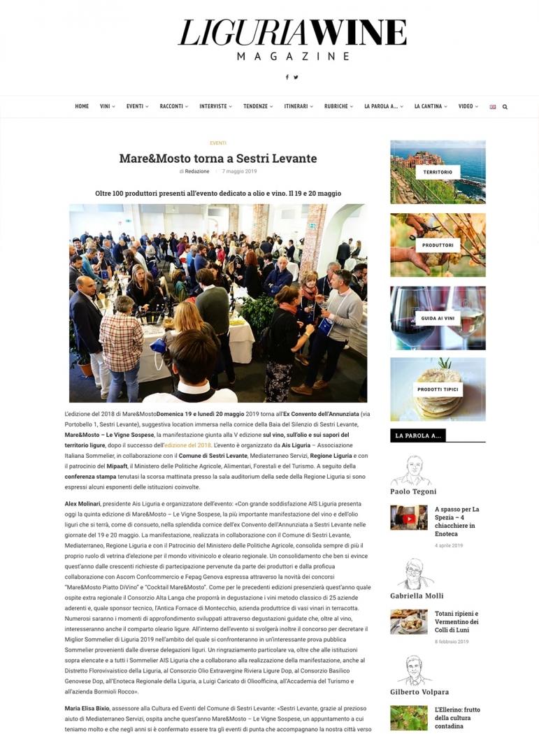 Mare&Mosto torna a Sestri Levante