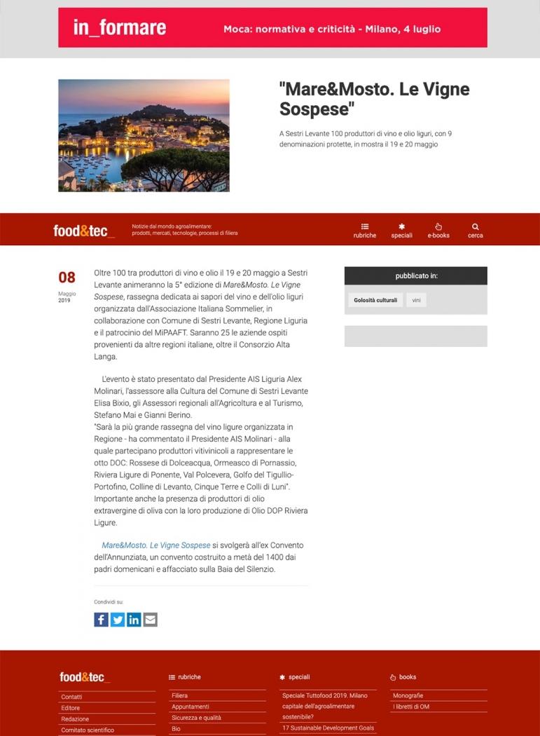 """""""Mare&Mosto. Le Vigne Sospese"""""""