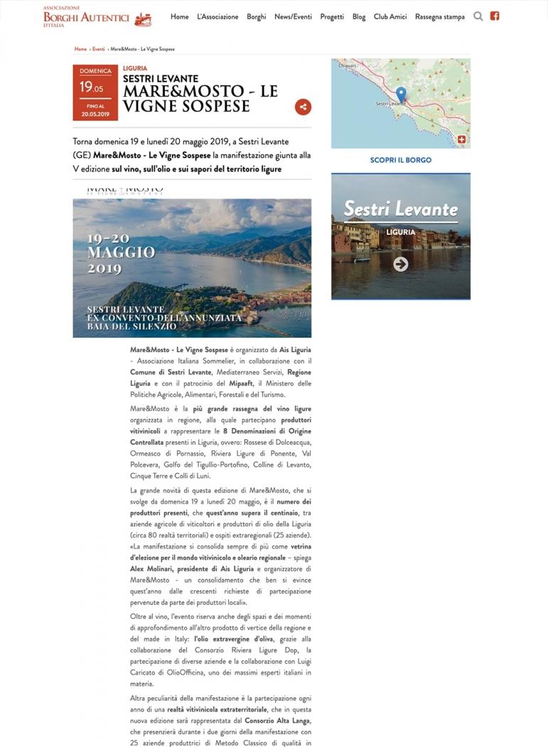 Sestri Levante - Mare&Mosto - Le vigne sospese